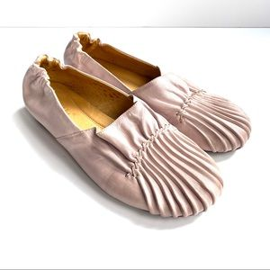 Chocolat Blu Ruched Ballet Pink Leather On Trend 8